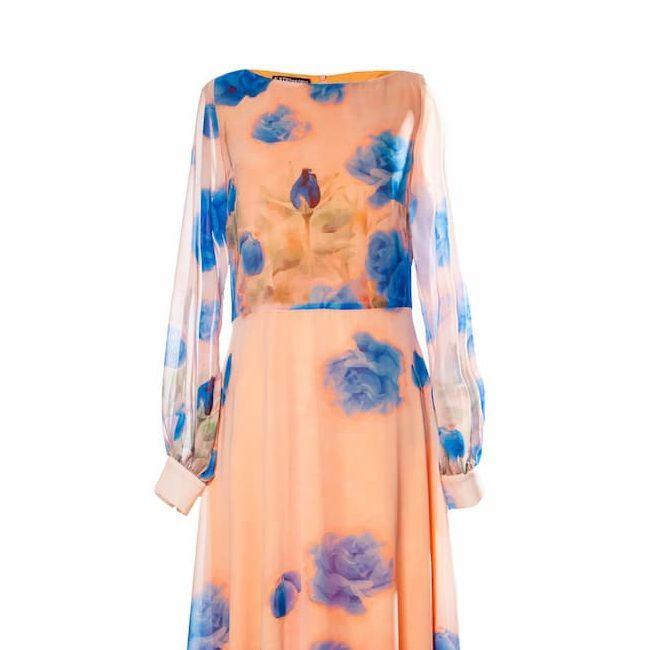 vestido gasa estampado Nala